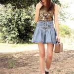brown keds shoes blue jordache skirt green the mountain shirt brown vintag 400