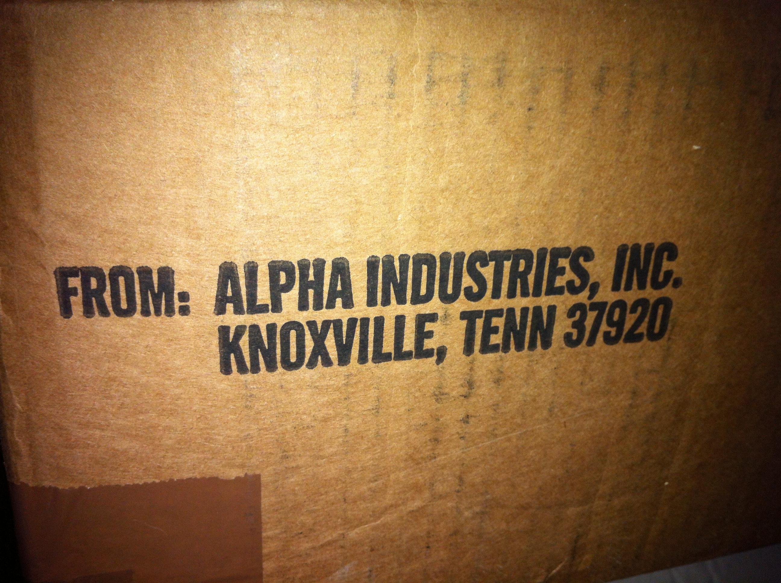 ОСТЕРЕГАЙТЕСЬ ПОДДЕЛКИ! Alpha Industries