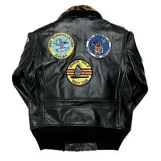 винтажная куртка А-2 вид сзади