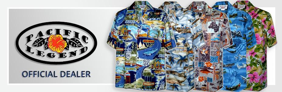 Мужские гавайские рубашки (гавайки), женские платья и сарафаны Pacific Legend®