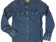 Рубашки из джинсовой ткани