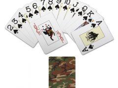 Сувенирные, игральные карты, в стиле милитари