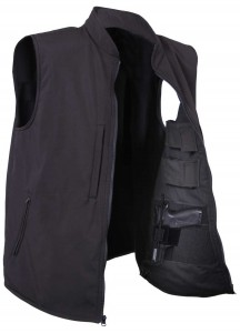 Куртка Rothco Concealed Carry Soft Shell Vest - Black - 86500