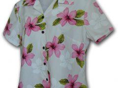 Женские, гавайские, приталенные блузки серии 348 от Pacific Legend Apparel.