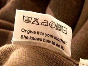 Этикетки по уходу за одеждой