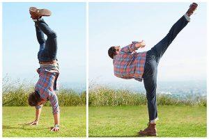 Мужские современные инновационные джинсы для активного образа жизни от американской компании Lee.