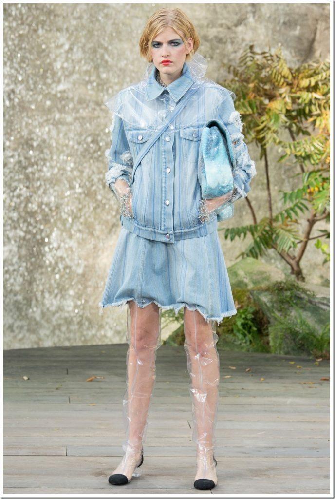 Одежда из денима весна 2018 от Chanel