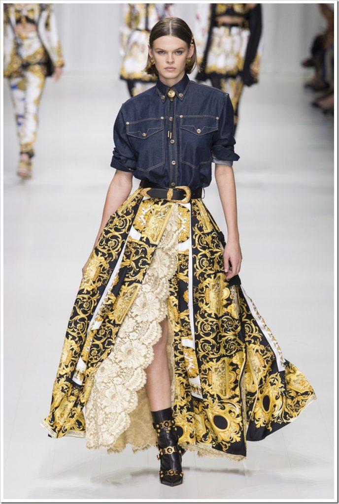 Одежда из денима от Versace-3
