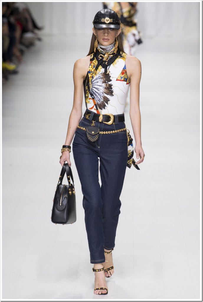 Одежда из денима от Versace-4