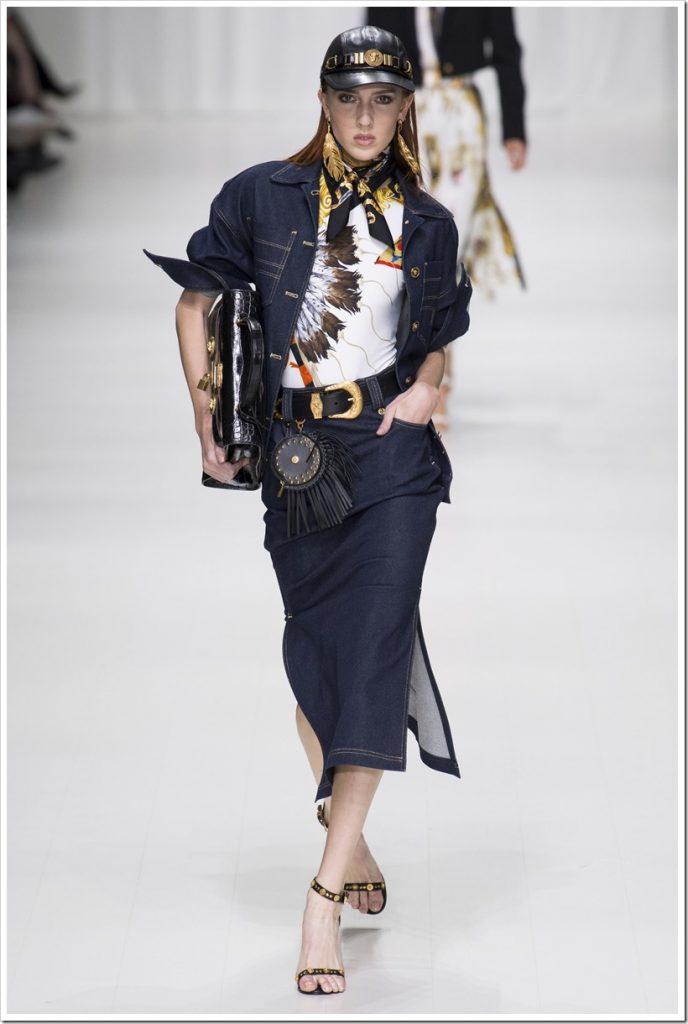 Одежда из денима от Versace-5