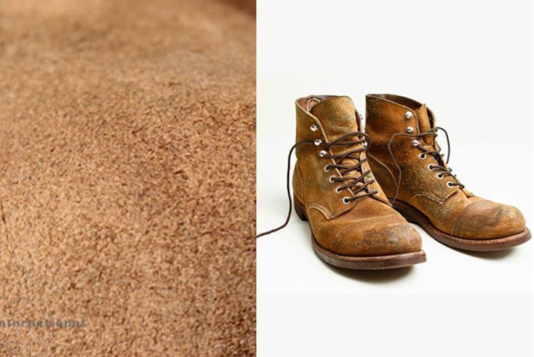 Обувь из замши и грубой кожи
