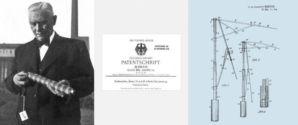 Ханс Хаупт и его патент. Фото с Knirps