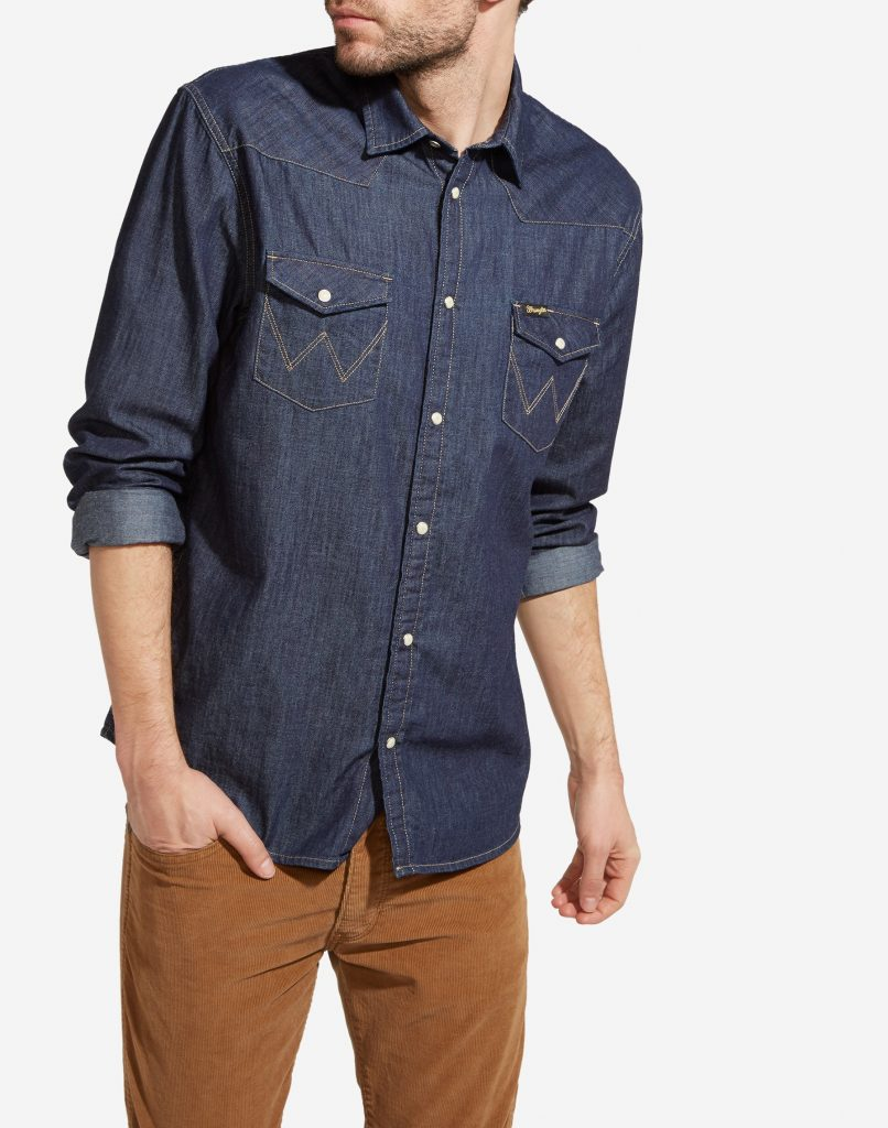 Джинсовые рубашки Wrangler