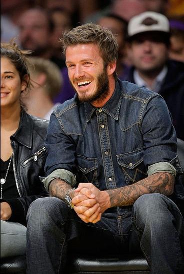 David Beckham a Wrangler