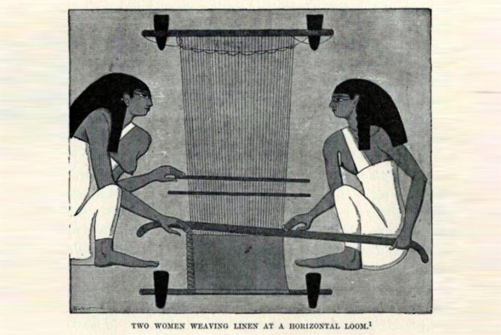 Египетские женщины за ткацким станком. Изображение c V Is For Vintage.