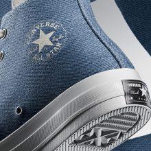 Converse добавил в свою новую коллекцию обувь из переработанного денима