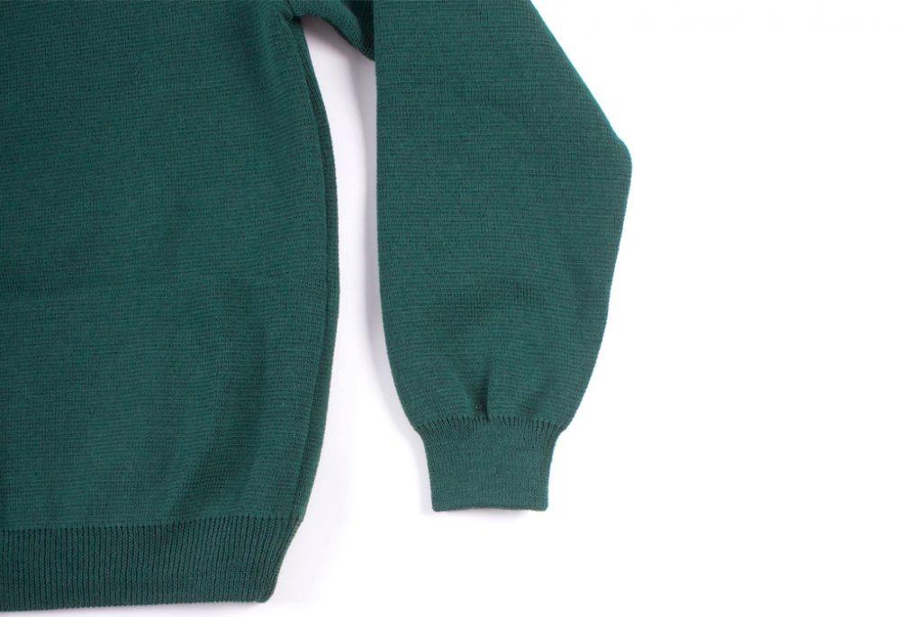 Deco Zip Cardigan Green