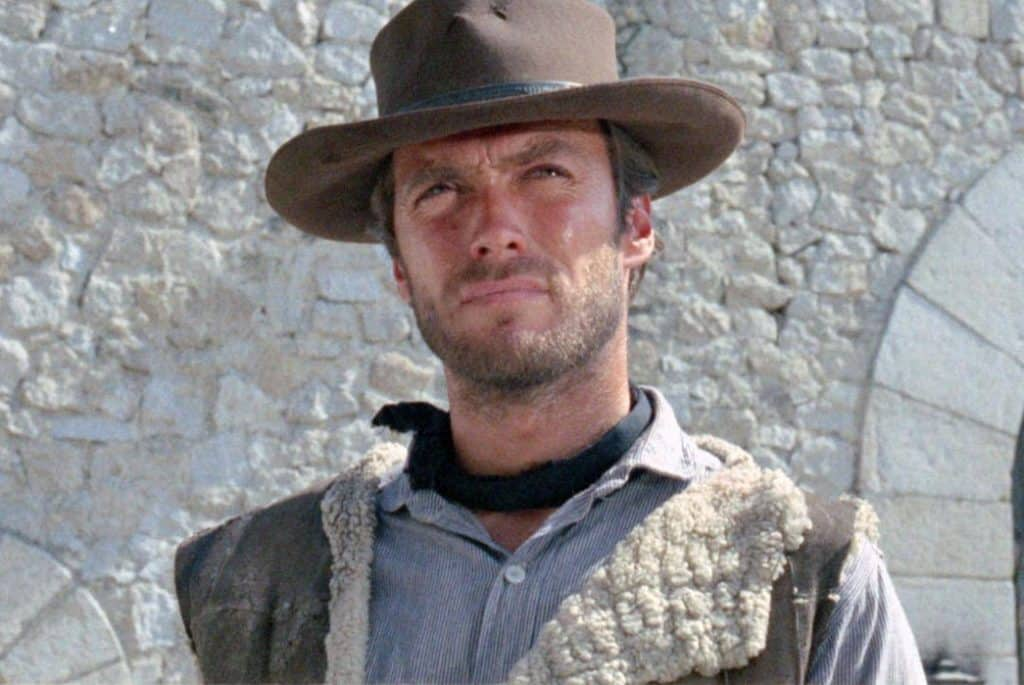 """The hat to end all hats Clint Eastwood in """"A Fistful of Dollars """" Image via the Village Voice"""
