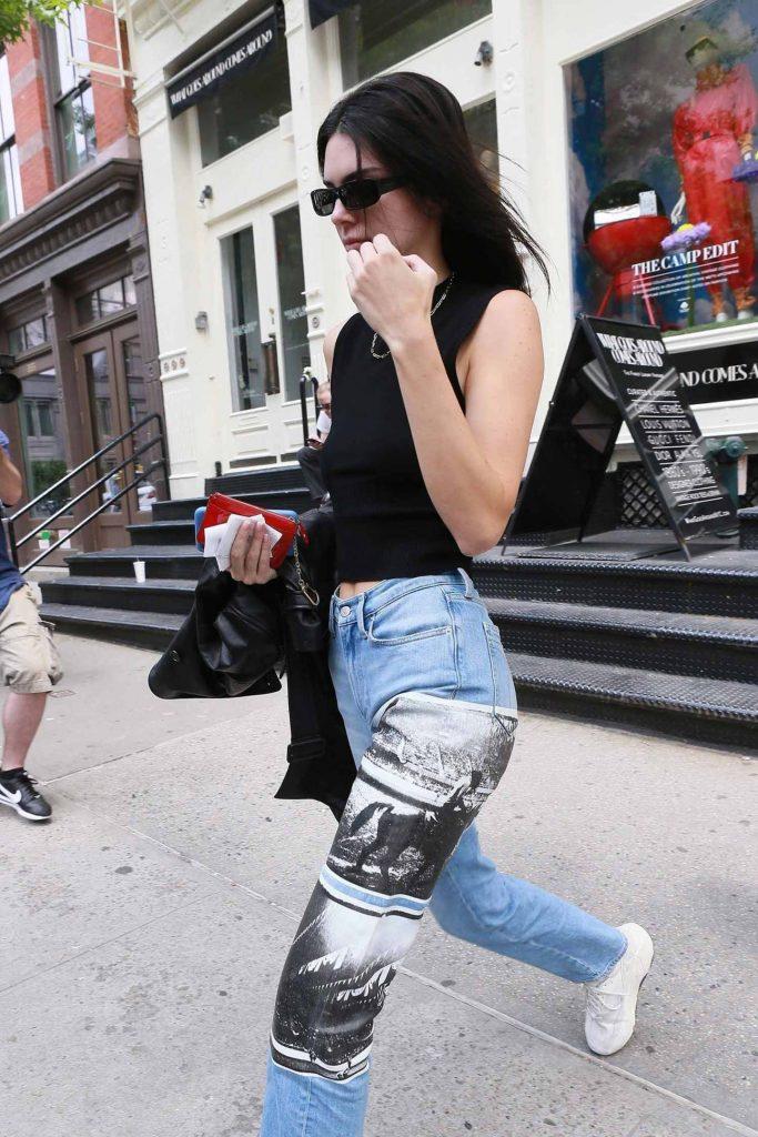 kendall jenner newspaper jeans