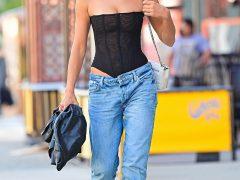 Ирина Шейк в джинсах с низкой посадкой