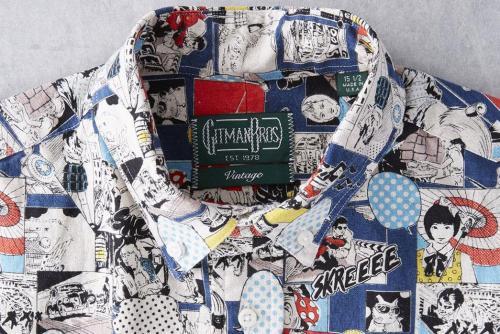 Gitman Vintage представил зимнюю льняную рубашку с принтом в стиле поп-арт-воротник