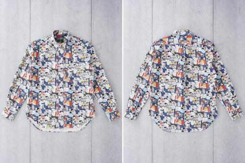 Gitman Vintage представил зимнюю льняную рубашку с принтом в стиле поп-арт-перед-зад