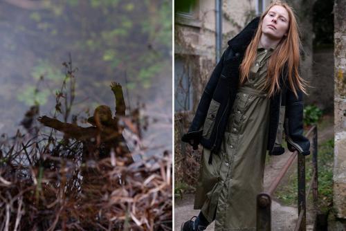 Космическая коллекция FW19 от женского бренда W'Menswear dark-blue-jacket-and-green-suit
